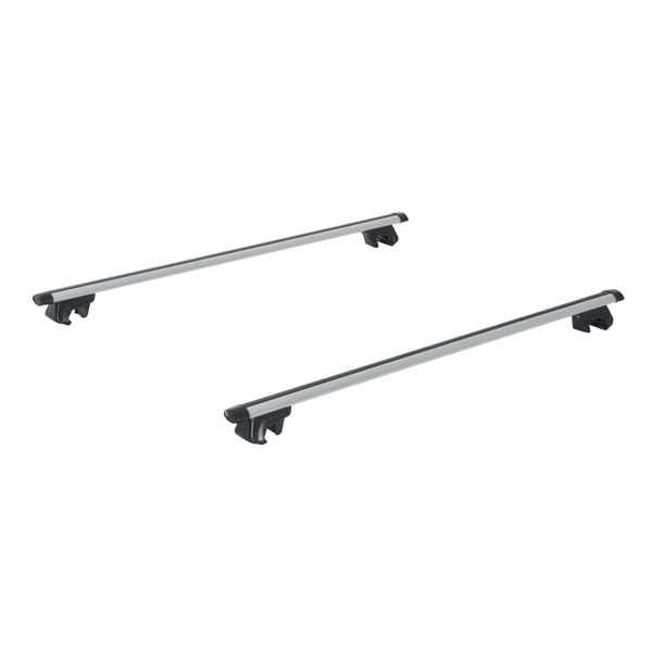 """Outsunny Roof Rack 53"""" Roof Top 2 PC Aluminum Cross Bars Lockable Adjustable Baggage Luggage Rack, Silver 