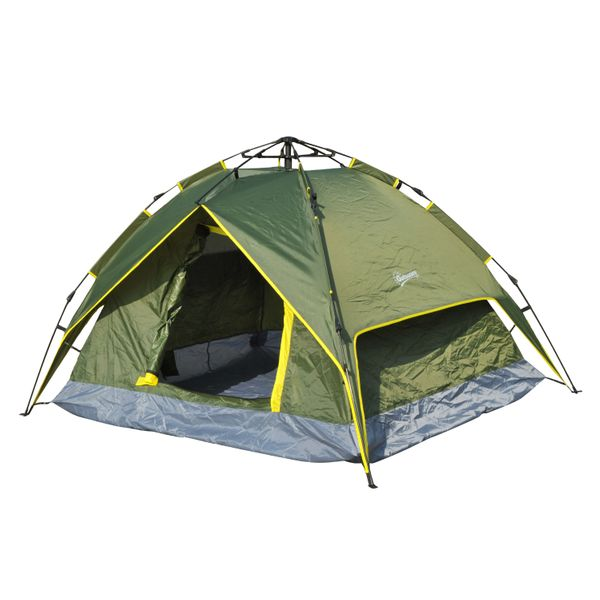 Outsunny 7' x 6' Lightweight 2 Person Pop-Up Camping Tent With Removable Waterproof Rainfly 2-Layer Pop Up Hike Shelter | Aosom Canada