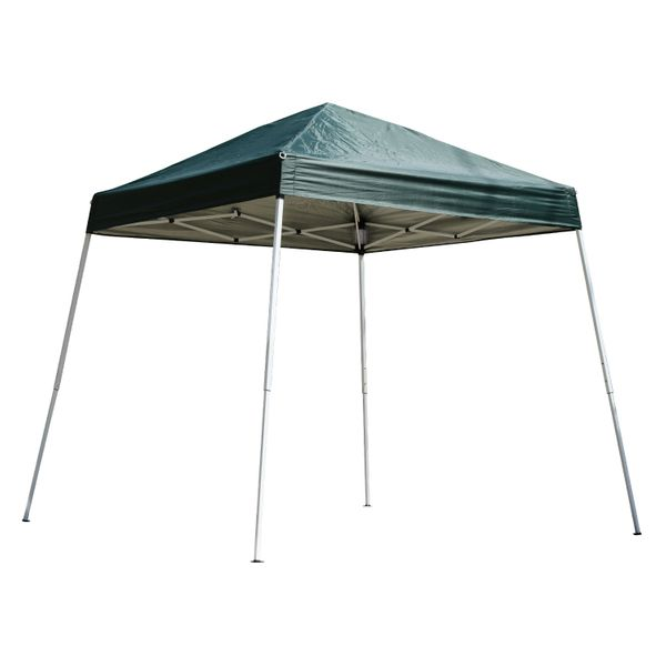 Outsunny 8.2x8.2ft Easy Pop Up Canopy Party Tent Outdoor Shelter w/Slant Leg Green | Aosom Canada