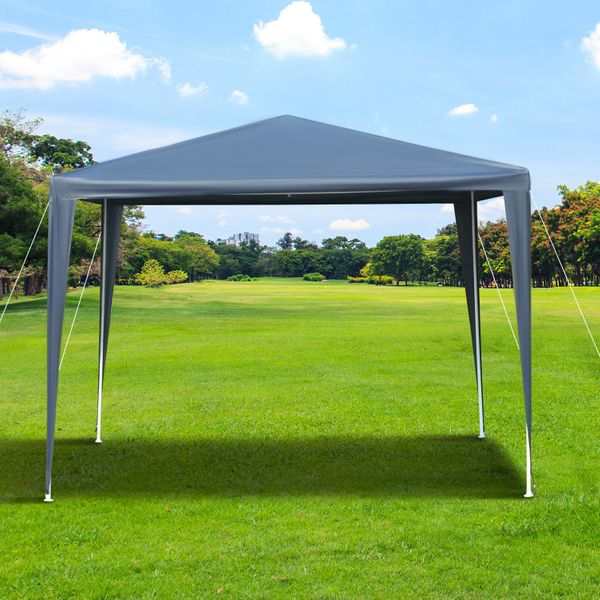 Outsunny 10x10ft Party Gazebo Tent Portable Garden Canopy Event Shelter Outdoor Sunshade with Carrying Bag Blue|Aosom Canada
