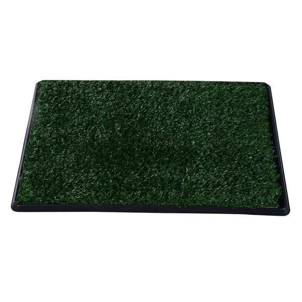 PawHut 3 layer Dog Toilet Pet Puppy Mat Tray Training Patio Grass Indoor Poop Trainer|Aosom.ca