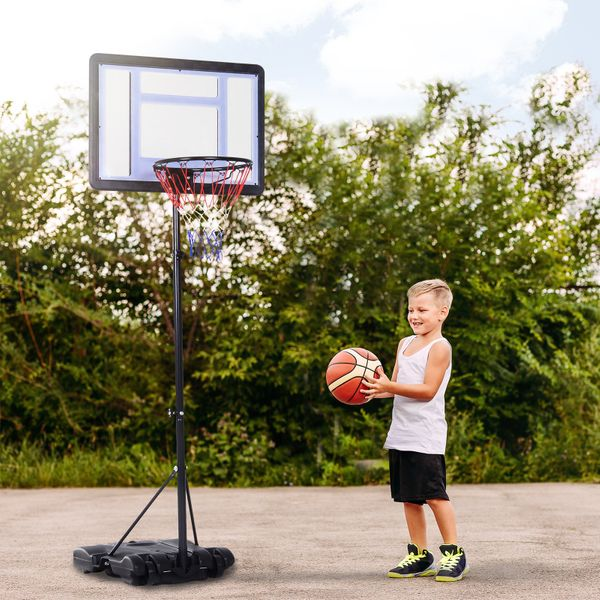 Soozier Basketball Stand and Hoop Backboard Adjustable w/ Wheels For Kids Adults Outdoor | Aosom Canada
