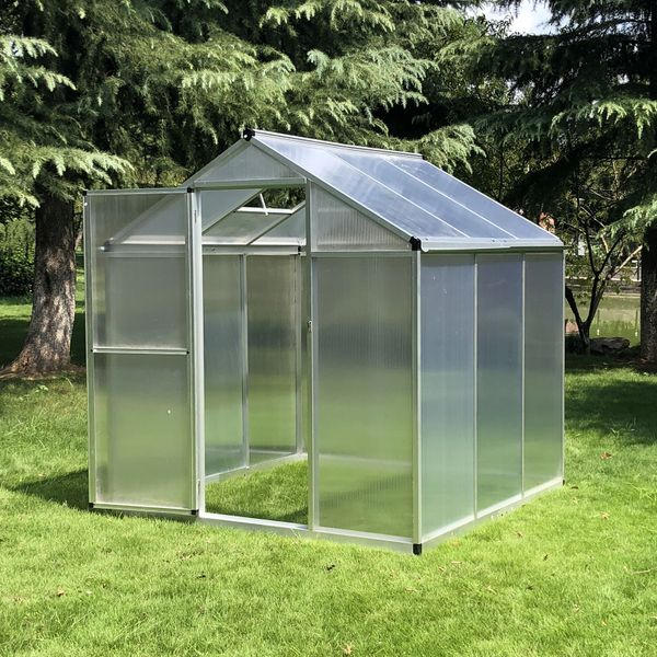 Outsunny 6'x6.25'x6.4' Portable Outdoor Walk-In Cold Frame Greenhouse Aluminum Frame | Aosom Canada