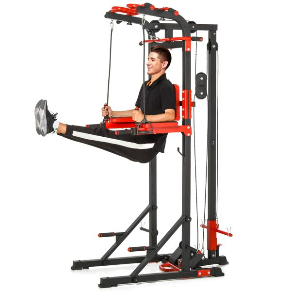 Soozier Pull Up Bar Station Power Tower for Home Gym Traning Workout Equipment Arms  Legs  Waist  Buttocks  Abdomen Exercise   Aosom Canada