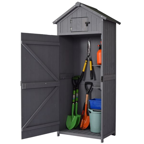 Outsunny Garden Shed Workshop Water-resistant All-weather Cover -Grey