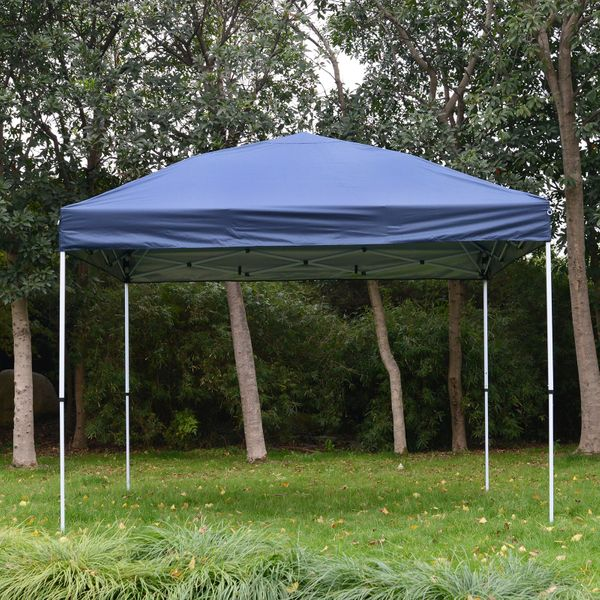Outsunny 10'X10' Instant Pop-up Canopy Party Tent Commercial Tent w/ Carry Bag | Aosom Canada