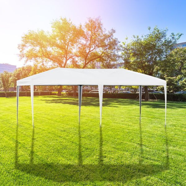 Outsunny 10' x 20' Outdoor Gazebo Pop Up Canopy Party Tent White | Aosom Canada
