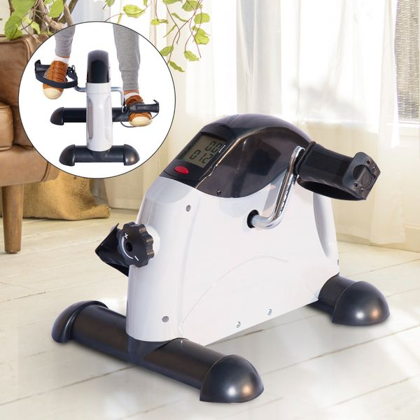 Soozier Pedal Exerciser Portable Mini Exercise Bike Indoor Cycle Fitness Hand Foot w/ LCD Display   Aosom Canada