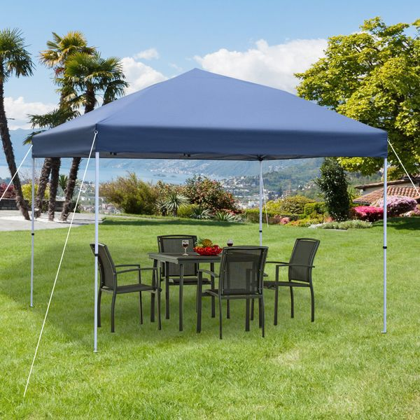 Outsunny 10'X10' Instant Pop-up Canopy Party Tent Commercial Tent w/ Carry Bag