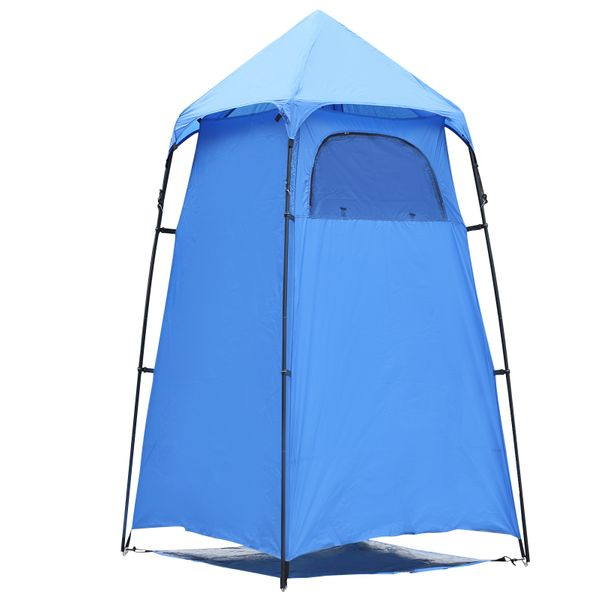 Outsunny Portable Camping Shower Tent Privacy Bathing Shelter Travel Changing Room Beach Toilet w/ Carry Bag|Aosom Canada