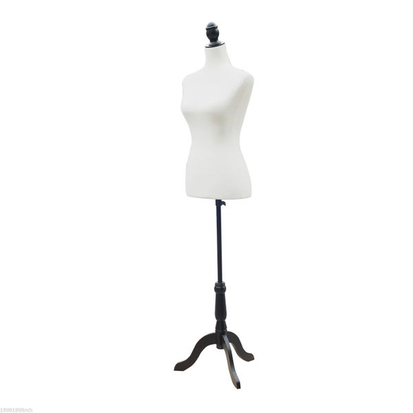 HOMCOM Female Fashion Mannequin Dress Form Torso Dressmaker Stand Clothing Display w/Base White|Aosom Canada