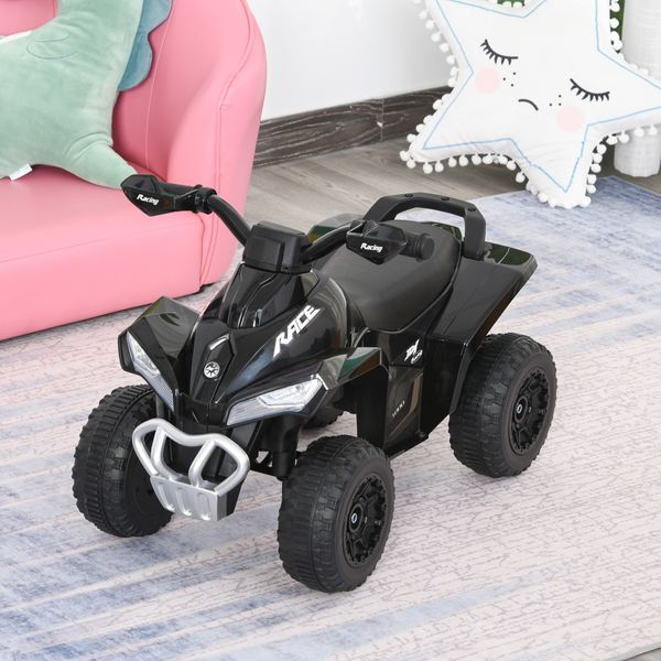Aosom Kids Ride on Toy 4 Wheel Motorcycle Car for 18-36 Months Black