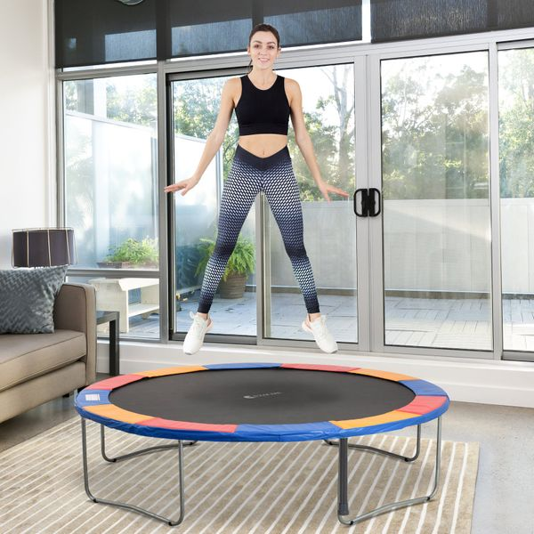 HOMCOM Φ12ft Trampoline Pad Spring Safety Replacement Gym Bounce Jump Cover EPE Foam (Colorful)|Aosom.ca