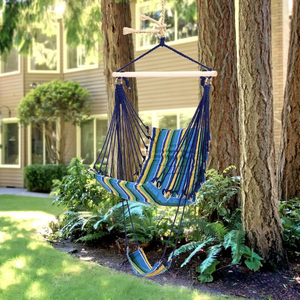 Outsunny Hanging Hammock Chair Swing Seat for Any Indoor or Outdoor Spaces|AOSOM.CA