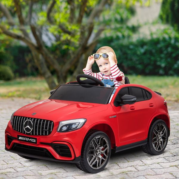Officially Licensed Kids Ride-On Car 12V Electric Ride On Car Perfect Toy Gift with Remote Control Suspension Wheel Red|Aosom Canada
