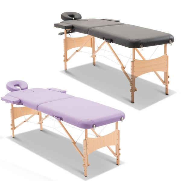 HOMCOM Massage Table Bed Adjustable Foldable with Free Carry Case|AOSOM.CA