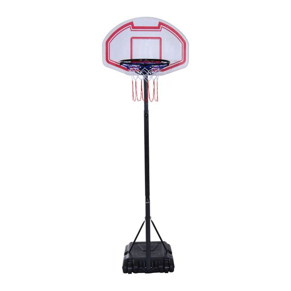 Soozier Portable Basketball Stand System Junior Adjustable W/ Wheels Height Multi-color|Aosom Canada