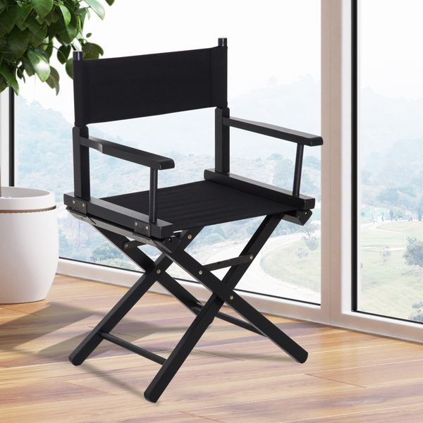 Outsunny Wooden Directors Folding Chair Oxford Fabric Seat for Cinema Use|AOSOM.CA
