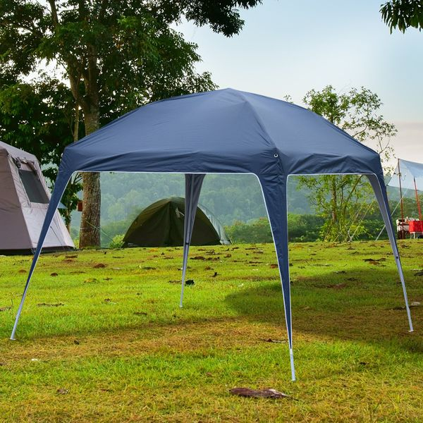 Outsunny 9.75x9.75ft Pop Up Canopy Tent Slant Legs Blue | Aosom Canada