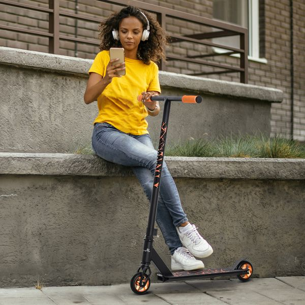 Soozier Stunt Scooter for 14+ Pro Scooters w/ 2 Pegs Best Trick Scooter for Freestyle Tricks Perfect for Intermediate Boys and Girls Pegs, Rear Wheel Braking | Aosom Canada