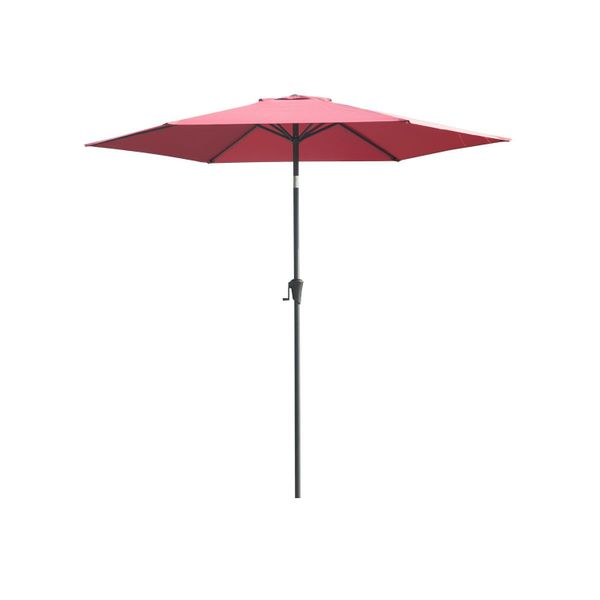 Outsunny 9ft Aluminum Patio Umbrella Garden Outdoor Parasol Sunshade Sun Shelter Wine Red | Aosom Canada