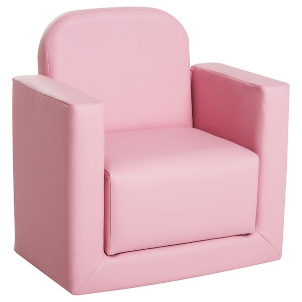 Qaba Kids Armchair 2-in-1 Kids Table & Sofa Chair Set Multifunctional Children Armchair Toddler Activity Couch Recliner Boys Girls Furniture Pink|Aosom Canada