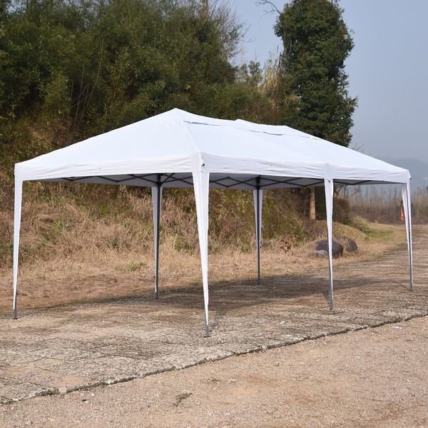 Outsunny 10' x 20' Outdoor Gazebo Canopy Party Wedding Party Tent Pop Up White