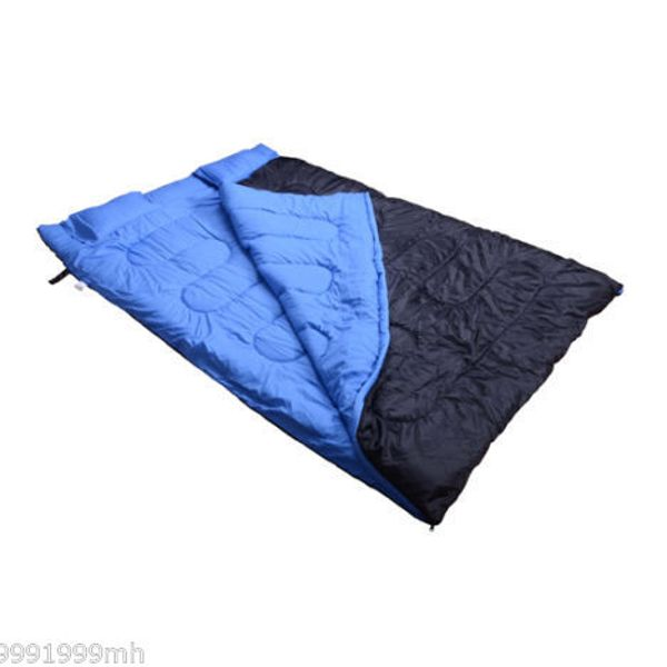 "Outsunny 75""x60"" Two-Person Sleeping Bag Double Outdoor Camping