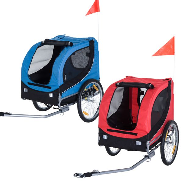 PawHut Pet Bike Bicycle Trailer Travel Carrier Folding|Aosom Canada