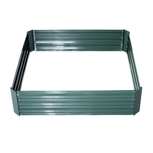 "Outsunny 49"" x 49"" x 12"" Galvanized Metal Raised Garden Bed - Green