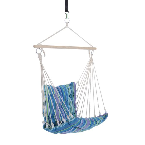Outsunny Hanging Swing Chair Striped Air Hammock Outdoor Camping Garden Portable|Aosom Canada