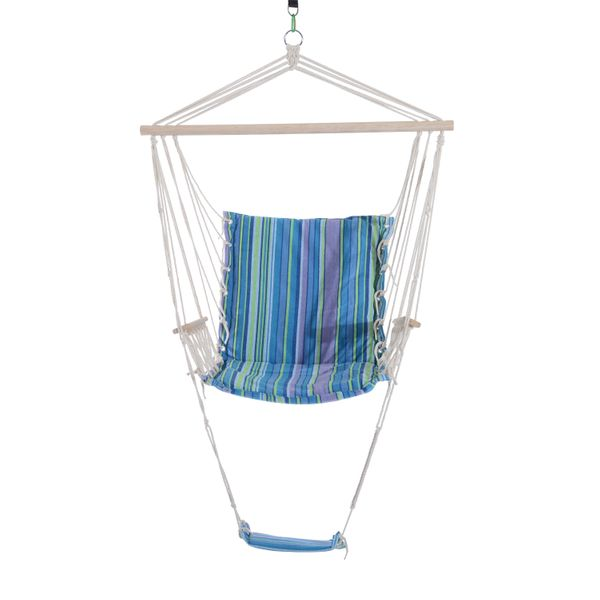 Outsunny Hammock Chair Hanging Swing Seat Outdoor Camp Porch w/ Armrest Footrest|Aosom.ca