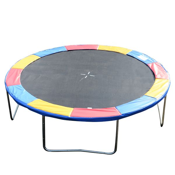 Soozier Round Trampoline Pad 14 FT Outdoor Bounce Jump Safety Frame Exercise Replacement Trampolining Gym Colorful | Aosom Canada