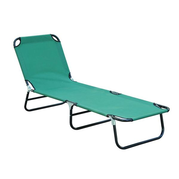 Outsunny Lawn and Beach Chairs Patio Foldable Chaise Lounge Chair Outdoor Camping Cot Beach Pool Sun Recliner | Aosom