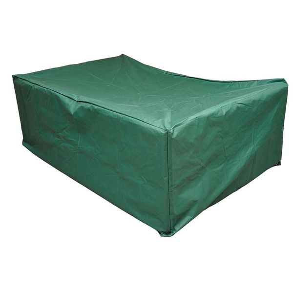 Outsunny Outdoor Sectional Patio Furniture Cover / Sofa Set Cover, Green, weatherproof outdoor furniture cover, Chaise Chair Protector Green | Aosom