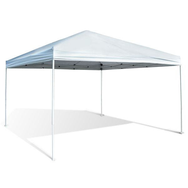 "Outsunny 13"" x 13"" Temporary Canopy Tent Gazebo Awning with Adjustable Height Option - White 