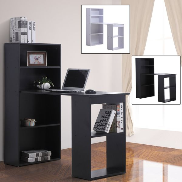 """47"""" Modern Computer Desk and Bookshelf Set Home Office with 6-tier Hutch 