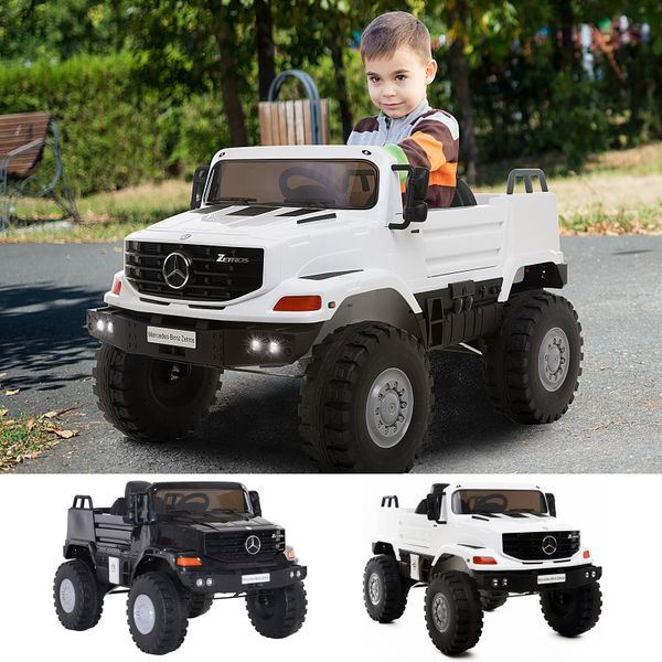 12V Mercedes-Benz Zetros Kids Ride On Car Off Road Truck with Remote Control | Aosom