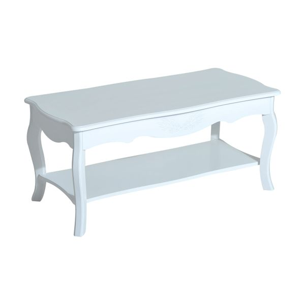 HomCom Wooden Country Cottage Style Two Tier Accent Coffee Table|AOSOM.COM