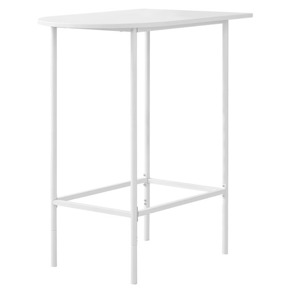 """Monarch 36"""" x 24"""" Rectangular Space Saver Smooth Top Metal Framed Home Bar Height Table - White Finish 