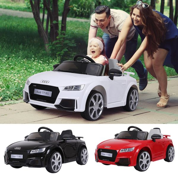 6V Audi TT RS Kids Electric Sports Car Ride On Toy One Seat with Remote Control | Aosom