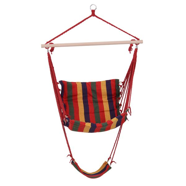 Outsunny Hanging Hammock Chair Swing Seat for Any Indoor or Outdoor Spaces-Multi-Color|AOSOM.COM