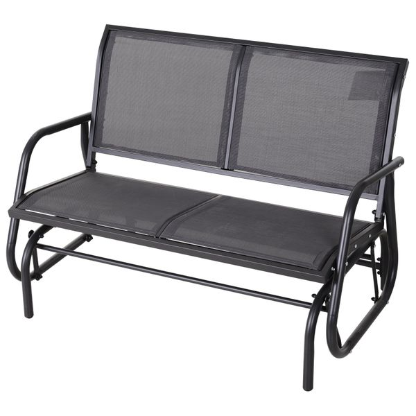 Outside Glider Swinging Lounge Chair for 2 People w// Weather /& UV Resistance