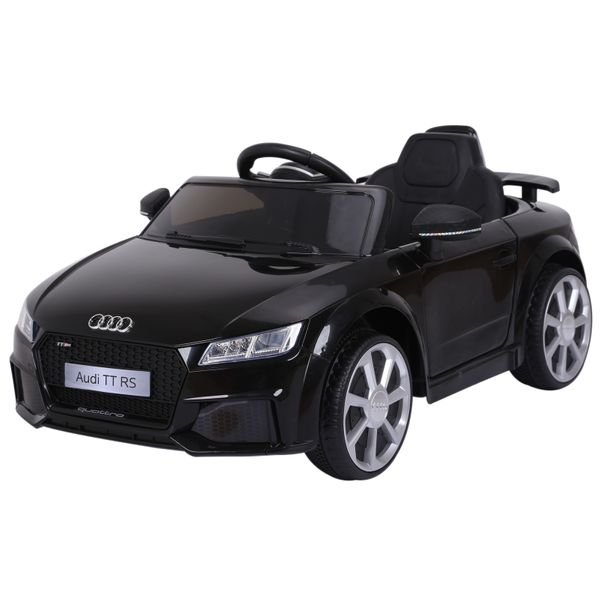 Aosom 6V Audi TT RS Kids Electric Sports Car Ride On Toy One Seat with Remote Control - Black|AOSOM.COM