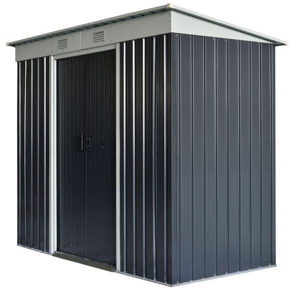 """Outsunny 85.5""""x43.25""""x68.5"""" Backyard Garden Tool Storage Shed with Lockable Door  2 Air Vents & Steel Construction Locking 