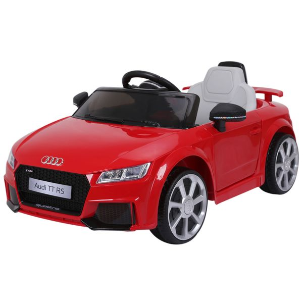 Aosom 6V Audi TT RS Kids Electric Sports Car Ride On Toy One Seat with Remote Control - Red|AOSOM.COM