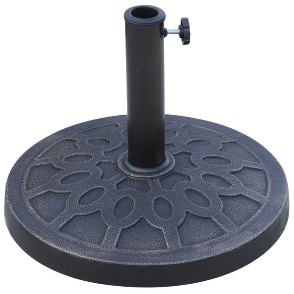 "Outsunny Patio Umbrellas Outdoor 18"" Patio Umbrella Base Stand Free Standing Heavy Duty Market Umbrella Base 