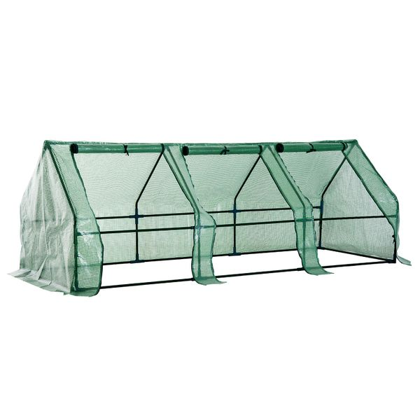 Outsunny 9' x 3' Flower Garden Portable Greenhouse  Gardening Plants Yard Mini small flower garden greenhouse | Aosom