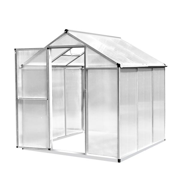 Outsunny Portable Outdoor Walk-In Garden Greenhouse with Roof Vent and Rain Gutter for PlantsHerbsand Vegetables 6' L x 6.25' W | Aosom