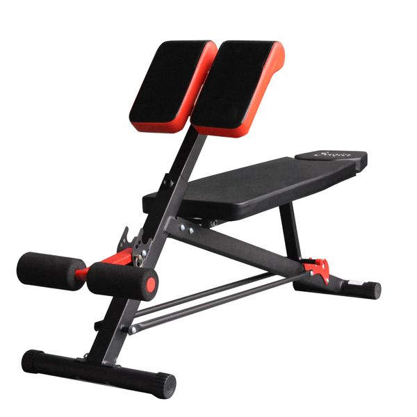 Soozier Folding Adjustable Sit-Up Dumbbell Bench Multi-Functional Purpose Workout Press Hyper Extension Bench with Adjustable Seat and Back Angle | Aosom